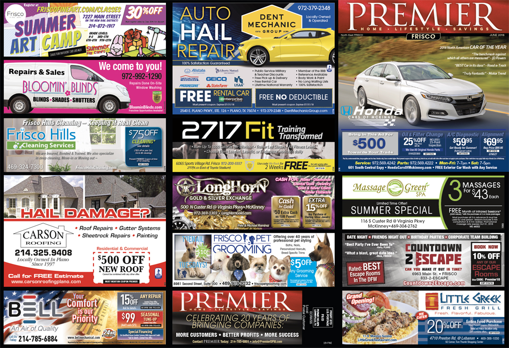 Print Advertising, Frisco Northeast, Page 1